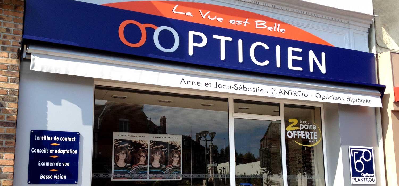 Façade de la boutique Optique Plantrou